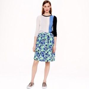 J . Crew floral skirt with pockets